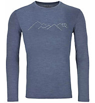 Ortovox 185 Merino Mountain LS - Funktionsshirt - Herren, night blue blend