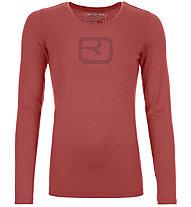 Ortovox 185 Merino Pixel Logo LS - Langarmshirt - Damen, Red