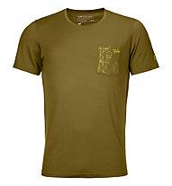 Ortovox 185 Merino Way to Powder TS - T-shirt - uomo, Dark Green