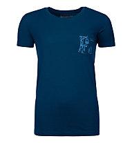 Ortovox 185 Merino Way to Powder TS W's - T-shirt - donna, Dark Blue