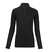 Ortovox 185 Pure Zip Neck - Langarmshirt - Damen, Black