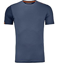 Ortovox 185 Rock'n Wool - Funktionsshirt - Herren, Blue