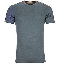 Ortovox 185 Rock'n Wool - Funktionsshirt - Herren, Dark Green/Blue