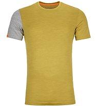 Ortovox 185 Rock'n Wool - Funktionsshirt - Herren, Yellow/Grey
