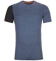 Ortovox 185 Rock'n Wool - Funktionsshirt - Herren, Blue/Dark Blue