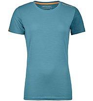 Ortovox 185 Rock'n Wool - Funktionsshirt Kurzarm - Damen, Light Blue
