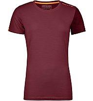 Ortovox 185 Rock'n Wool - Funktionsshirt Kurzarm - Damen, Red