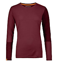 Ortovox 185 Rock'n Wool - Funktionsshirt - Damen, Dark Red