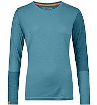 Ortovox 185 Rock'n Wool - maglia a manica lunga scialpinismo - donna, Light Blue