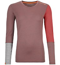 Ortovox 185 Rock'n Wool - maglia a manica lunga scialpinismo - donna, Red/Grey
