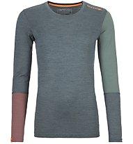Ortovox 185 Rock'n Wool - Funktionsshirt - Damen, Dark Green/Red