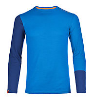 Ortovox 185 Rock'n Wool - maglia a manica lunga alpinismo - uomo, Blue