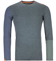 Ortovox 185 Rock'n Wool - Funktionsshirt - Herren, Dark Green/Blue