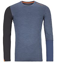 Ortovox 185 Rock'n Wool - Funktionsshirt - Herren, Blue/Dark Blue