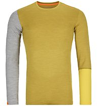 Ortovox 185 Rock'n Wool - Funktionsshirt - Herren, Yellow/Grey
