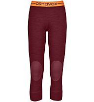 Ortovox 185 Rock'n Wool - Unterhose 3/4 lang - Damen, Dark Red