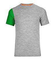 Ortovox 185 Rock'n Wool Short Sleeve kurzärmliges Merino-Funktionsshirt, Grey blend