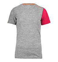 Ortovox 185 Rock'n Wool Short Sleeve kurzärmliges Merino-Funktionsshirt für Damen, Grey blend