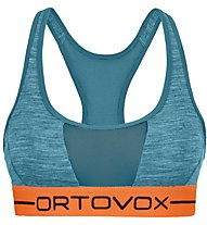 Ortovox 185 Rock'n Wool Sport - reggiseno sportivo - donna, Light Blue