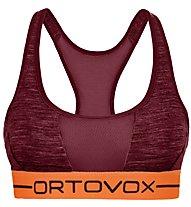 Ortovox 185 Rock'n Wool Sport - reggiseno sportivo - donna, Dark Red