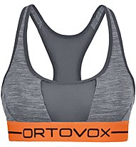 Ortovox 185 Rock'n Wool Sport - reggiseno sportivo - donna, Grey