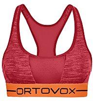 Ortovox 185 Rock'n Wool Sport - reggiseno sportivo - donna, Red