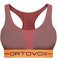 Ortovox 185 Rock'n Wool Sport Top W - Sport BH - Damen, Dark Red Melange