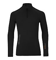 Ortovox 230 Competition Zip Neck Merino-Funktionsshirt, Black raven