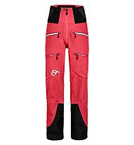 Ortovox 3L Guardian Shell - pantaloni freeride - donna, Red