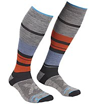Ortovox All Mountain Long - Skisocken - Herren, Grey/Light Blue/Orange