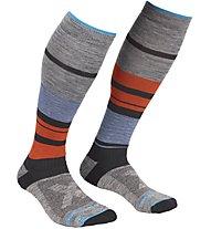 Ortovox All Mountain Long Warm - calzini lunghi - uomo, Grey/Blue/Orange