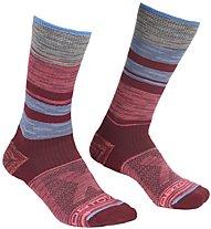 Ortovox All Mountain Mid - Kurze Socken - Damen, Red/Grey/Blue