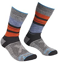 Ortovox All Mountain Mid Warm - calzini corti - uomo, Grey/Blue/Orange
