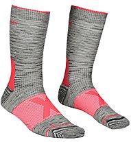 Ortovox Alpinist Mid W - calzini corti - donna, Grey/Pink