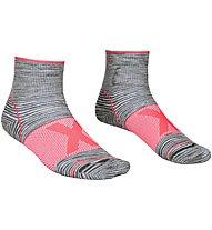 Ortovox Alpinist Quarter W - Merinosocken - Damen, Grey/Pink