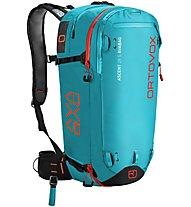 Ortovox Ascent 28 S AVABAG - zaino airbag, Turquoise