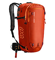 Ortovox Ascent 30 AVABAG - zaino airbag, Dark Orange
