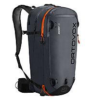 Ortovox Ascent 32 - zaino scialpinismo, Black/Anthracite