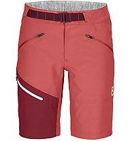 Ortovox Brenta - pantaloni corti arrampicata - donna, Red