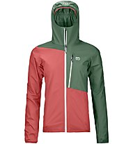 Ortovox Civetta - giacca hardshell - donna, Green/Red