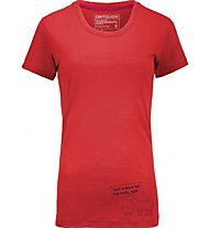 Ortovox Cool S-Sleeve Slogan T-Shirt trekking donna, Red