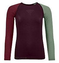 Ortovox Comp Light 120 Long Sleeve - Funktionsshirt Langarm - Damen, Red/Green
