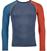 Ortovox Comp Light 120 Long Sleeve - Funktionsshirt Langarm - Herren, Blue