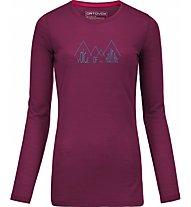 Ortovox Cool L-Sleeve Ridge Maglia maniche lunghe donna, Violett