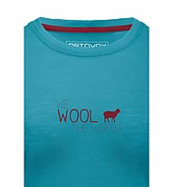Ortovox Cool World - T-shirt trekking - donna, Aqua