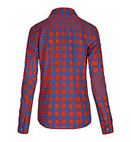 Ortovox Double Check - Camicia a maniche lunghe trekking - Donna, Crazy Orange