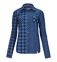 Ortovox Double Check - Camicia a maniche lunghe trekking - Donna, Blue Ocean