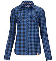 Ortovox Double Check - camicia a maniche lunghe trekking - donna, Blue