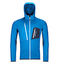 Ortovox Fleece Grid - Fleecjacke - Herren, Blue/Dark Blue