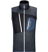 Ortovox Fleece Grid - Fleeceweste - Herren, Black/Blue